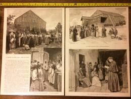 DOCUMENT ANNEE 1900 MYSTERES LE THEATRE DE JEANNE D ARC MENIL EN XAINTOIS - Vieux Papiers