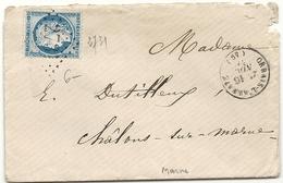 Marne - Orbais Sur L'abbaye. GC + CàD Type 16 - Marcophilie (Lettres)