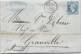 Marne - Avize Pour Un Négociant En Vins à Granville (Manche). GC + CàD Type 15. VINS FINS De CHAMPAGNE - Marcophilie (Lettres)