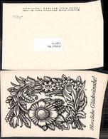 120775,Scherenschnitt Silhouette Blumen C. Fabriz Fabrizius - Silhouettes