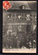 77 BOIS LE ROI INAUGURATION DU BUREAU DE POSTE LE 31 OCTOBRE 1909  SUPERBE ANIMATION CLICHE UNIQUE - Bois Le Roi