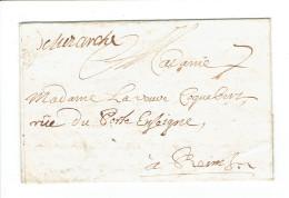 LAC 1719 De Herivaux (luzarches 72 )vers Reims 7 De Port , Voir Contenu..3 Scan - Postmark Collection (Covers)