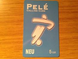 Rarer Prepaid Card - Pele Calling Card 5 Euro  Unused / Mint Card