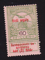 """Hungary, Scott #B31, Mint Hinged, """"Turul"""" And Crown Of St Stephen Surcharged, Issued 1914 - Hungary"""