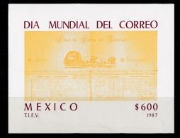 Mexico, (Sc # 1526) MNH, (Souvenir Sheet Of 1) World Post Day (1987) - Mexico