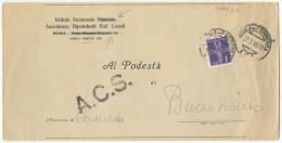 LUOGOTENENZA 1945 AEREA L. 1 ISOLATO PIEGO TARIFFA RIDOTTA 27.3.45 RIF. FASCISTI CANCELLATI E ACS CENSURA (A698) - 5. 1944-46 Luogotenenza & Umberto II