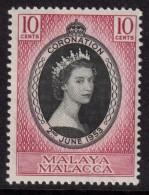 MALAYA MALACCA 1953 QEII Coronation Omnibus - Mint Never Hinged - MNH ** - 7B1194 - Malacca