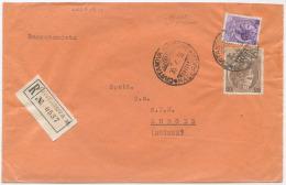 1956 SIRACUSANA L. 100 + 25 BUSTA RACCOMANDATA PER SVIZZERA 30.6.56 OTTIMA QUALITÀ (6811) - 6. 1946-.. Repubblica
