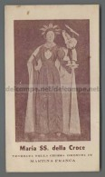 EM1867 MARIA SS. DELLA CROCE MARTINA FRANCA Santino Holy Card - Religione & Esoterismo