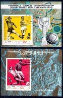 Juiles Rimet Cup 1970, Mi-Block-Nr.  1158 + 1173, Gest. Ungezähnt, Los 45821 - 1970 – Mexico