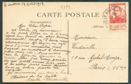 LE HAVRE Sainte ADRESSE - 10 Centimes Pellens Obl. Sc LE HAVRE (SPECIAL) Sur C.P. (Nice-Havrais) Du 13-8-1913 (sic 1915) - Weltkrieg 1914-18