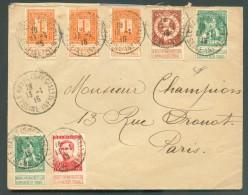 LE HAVRE Sainte ADRESSE - Affranchissement Pellens à 25 Centimes (port Exact) Obl. Sc LE HAVRE (SPECIAL) Sur Lettre Du 1 - Weltkrieg 1914-18
