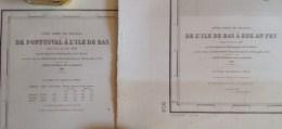 Lot De Cartes - De L´ile De Bas à Beg An Fug  + De Pontusval à L´ile De Bas - Levées En 1837 (dépot En 1842 ) - Nautical Charts