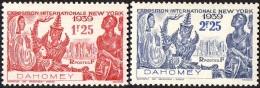 Détail De La Série Exposition Internationale De New York ** Dahomey N° 113 Et 114 - 1939 Exposition Internationale De New-York