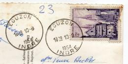 Cachet Manuel EGUZON-36- Indre- Du 10-08-1954- Sur Carte Postale Vidange Du Lac De L'année   ......à Saisir - Marcophilie (Lettres)