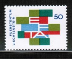 EUROPEAN IDEAS 1967 EFTA LI MI 481 LIECHTENSTEIN - Idee Europee
