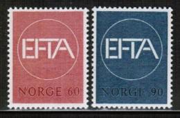 EUROPEAN IDEAS 1967 EFTA NO MI 551-52 NORWAY - Idee Europee
