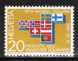 EUROPEAN IDEAS 1967 EFTA CH MI 852 SWITZERLAND - Idee Europee