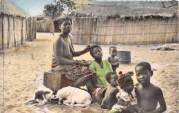 ¤¤  -   COTE D´IVOIRE  -  ABIDJAN   -  Scène De Coiffure   -  Femme Aux Seins Nus  -  ¤¤ - Sudan