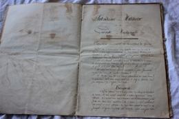 DOCUMENT MANUSCRIT DE L INTENDANCE DE LA GARDE NATIONALE LE 1/12/1870 - Documents