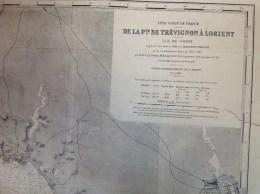 Morbihan - Lot De 2 Cartes Marines : De Quiberon à Penerf + De Trevignon à Lorient,  ïle De Groix - Nautical Charts