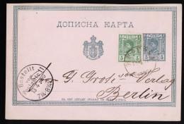 A4057) Serbien Serbia Karte Von Belgrad 1890 Nach Berlin - Serbien