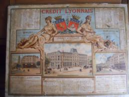 CALENDRIER CREDIT LYONNAIS PARIS CHROMO BANQUE 75 - Calendars