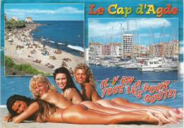 Vacances à CAP D'AGDE ! , Belle Carte Postale Adressée En ANDORRE, Avec Timbre à Date Arrivée. Deux Photos - Agde