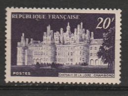 FRANCE N° 924 20F VIOLET CHATEAU DE CHAMBORD VIOLET FONCE NEUF SANS CHARNIERE