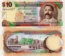 BARBADOS       10 Dollars       P-68c       2.5.2012       UNC - Barbados