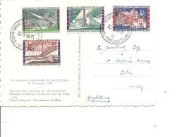 Exposition De Bruxelles-1958( CP De Belgique De 1958 Vers La Grande-Bretagne Avec Cachet De L'expo à Voir)