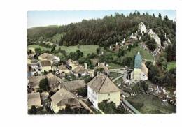 25 - SOMBACOUR - Doubs - L'Eglise Et Le Calvaire - N°2 Lapie + En Avion Au Dessus De ... - - France