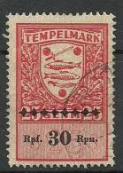 ESTLAND Estonia 1941 German Occupation Revenue Tax Stempelmarke 30 RPf O - Besetzungen 1938-45