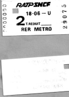 (V)...ticket  Ratp   Sncf  2  T. Reduit  Rer  Metro   29075 - Biglietti Di Trasporto