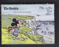 Gambie. Walt Disney. Mickey Sur Les Falaises De Douvres 945 - Disney