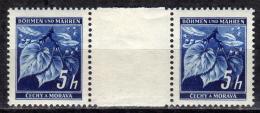 BÖHMEN&MÄHREN 1939 - MiNr: 20 Z Mit Zwischensteg  ** / * - Böhmen Und Mähren