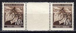 BÖHMEN&MÄHREN 1939 - MiNr: 21 Z Mit Zwischensteg  ** / * - Böhmen Und Mähren