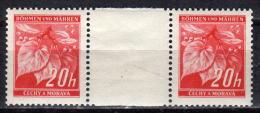 BÖHMEN&MÄHREN 1939 - MiNr: 22 Z Mit Zwischensteg  ** / * - Böhmen Und Mähren