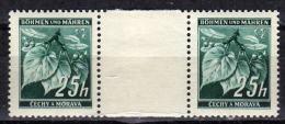 BÖHMEN&MÄHREN 1939 - MiNr: 23 Z Mit Zwischensteg  ** / * - Böhmen Und Mähren