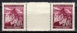 BÖHMEN&MÄHREN 1939 - MiNr: 24 Z Mit Zwischensteg  ** / * - Böhmen Und Mähren