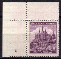 BÖHMEN&MÄHREN 1939 - MiNr: 27 Eckrand Oben **/MNH - Böhmen Und Mähren