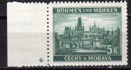 BÖHMEN&MÄHREN 1939 - MiNr: 35 Rand Mit Stern  * / MH - Böhmen Und Mähren