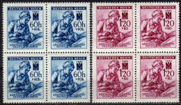 BÖHMEN&MÄHREN 1942 - MiNr: 111-112 4er   ** / MNH - Böhmen Und Mähren