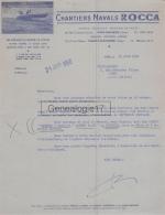 94 776 VITRY SUR SEINE Et NOGENT SUR MARNE 1956 CHANTIERS NAVALS ROCCA Rue Constant Coquelin Hors Bord Bateau - Imprimerie & Papeterie