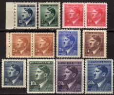 BÖHMEN&MÄHREN 1942 - MiNr: 89-110 Partie Paare Und Einzelwerte   ** / MNH - Böhmen Und Mähren