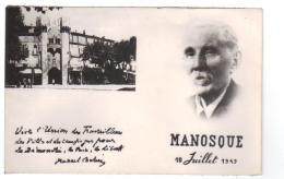 CPM Du 04- MANOSQUE , Carte Syndicale Union De Travailleurs ( Pascal CACHIN) - Manosque