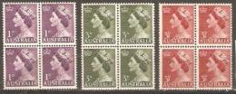 Australia 1953 SG 261-23 Blocks Of Four Unmounted Mint - Neufs