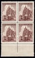 BÖHMEN&MÄHREN 1944 - MiNr: 140 4er Mit Unterrand   ** / MNH - Böhmen Und Mähren