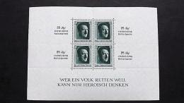 Deutsches Reich 648 Block 9 **/mnh, Kulturförderung (Stanzung Oben Etwas Gerissen) - Deutschland