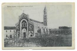 BUSTO ARSIZIO CHIESA DEL SACRO CUORE DI GESU' 1923 VIAGGIATA  FP - Busto Arsizio
